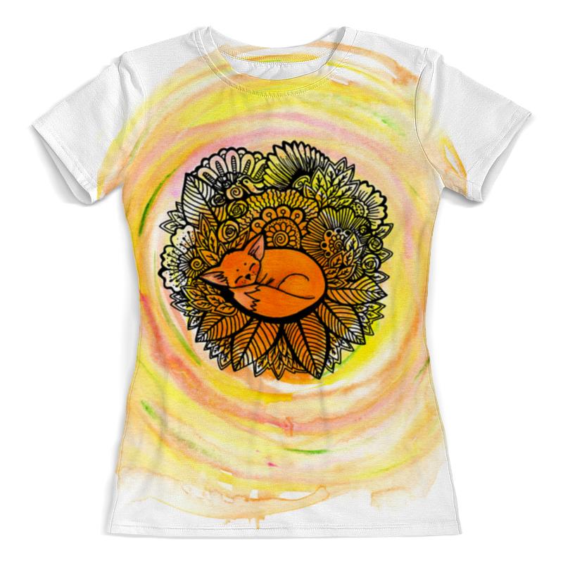 Футболка с полной запечаткой (женская) Printio С лисой футболка с полной запечаткой женская printio миньон
