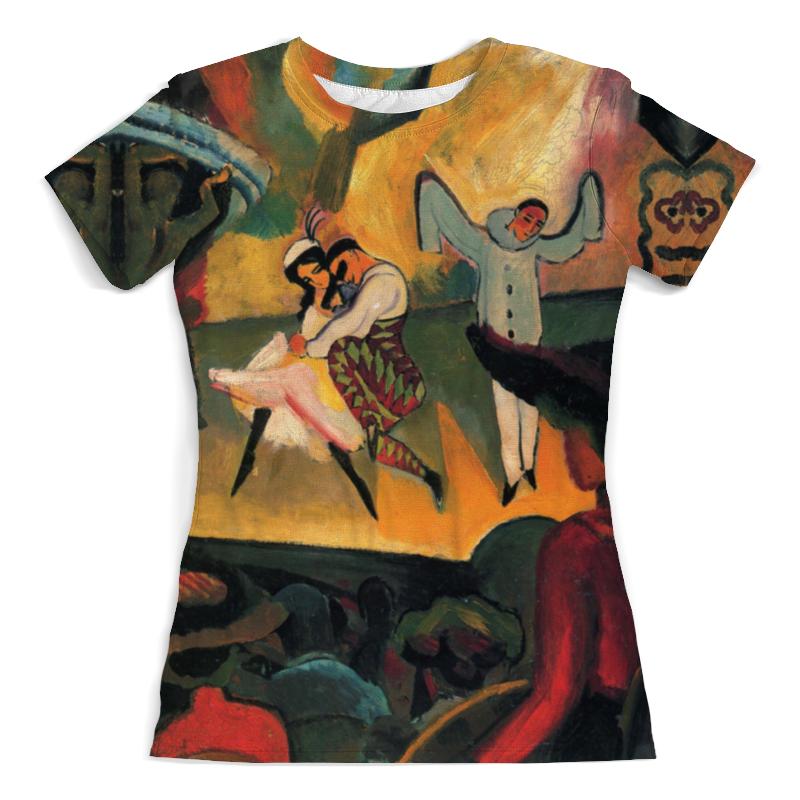 Футболка с полной запечаткой (женская) Printio Русский балет (август маке) футболка с полной запечаткой женская printio парусник в тегернзее август маке