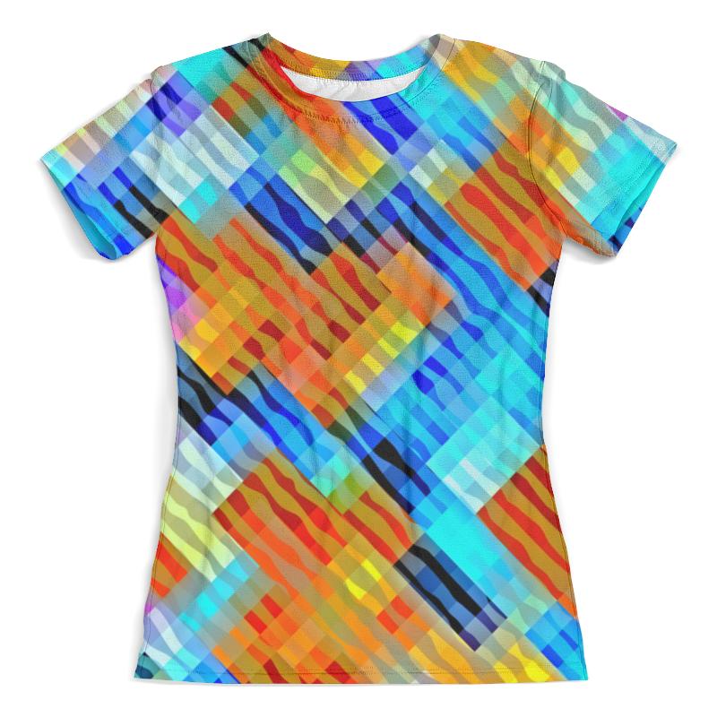 Футболка с полной запечаткой (женская) Printio Волнистый узор футболка с полной запечаткой для девочек printio волнистый узор