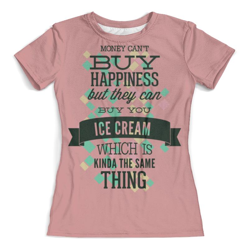 Футболка с полной запечаткой (женская) Printio Ice cream цена