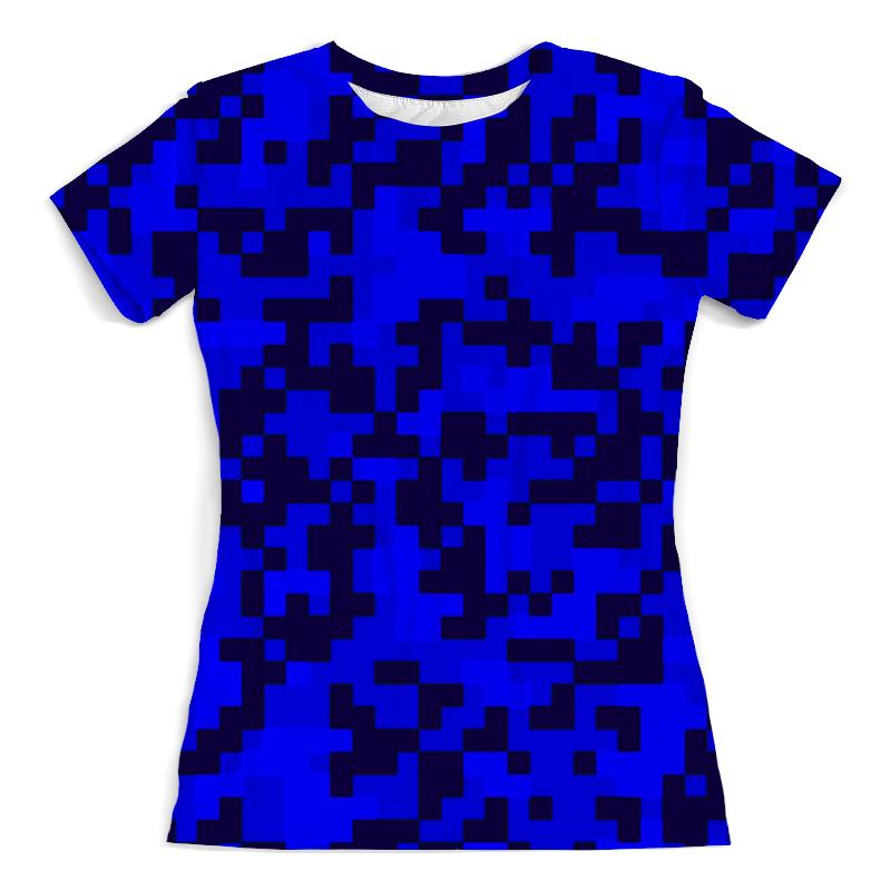 Фото - Футболка с полной запечаткой (женская) Printio Синие пиксели футболка с полной запечаткой женская printio пиксели