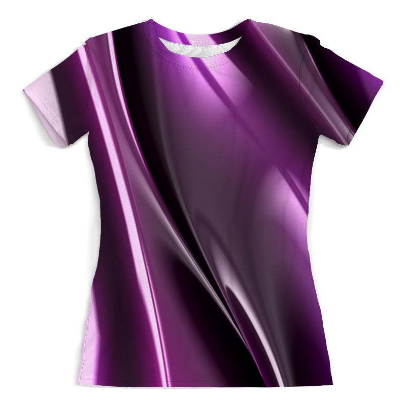 Футболка с полной запечаткой (женская) Printio Фиолетовые линии юбка карандаш укороченная printio фиолетовые линии