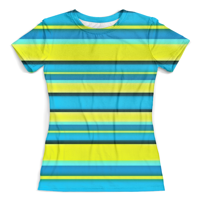 Футболка с полной запечаткой (женская) Printio Яркие линии футболка с полной запечаткой мужская printio яркие линии