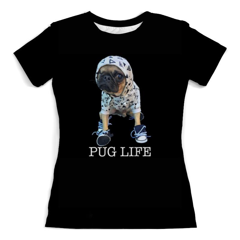 Printio Pug life футболка с полной запечаткой женская printio pug life