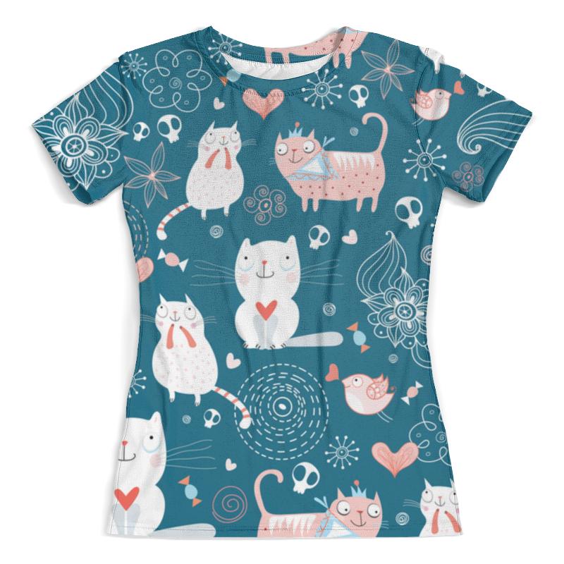 Футболка с полной запечаткой (женская) Printio Прикольные коты футболка с полной запечаткой женская printio коты меломаны