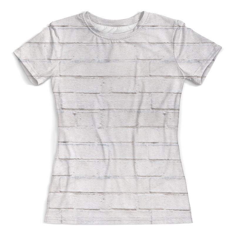 Футболка с полной запечаткой (женская) Printio Кирпичная футболка с полной запечаткой для девочек printio кирпичная кладка