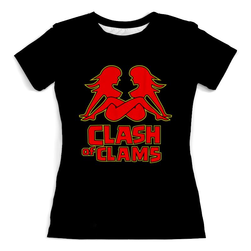 Футболка с полной запечаткой (женская) Printio Clash of clams футболка с полной запечаткой мужская printio clash royale