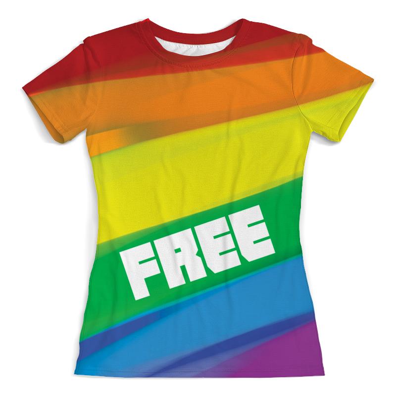Printio Free rainbow футболка с полной запечаткой женская printio broken rainbow