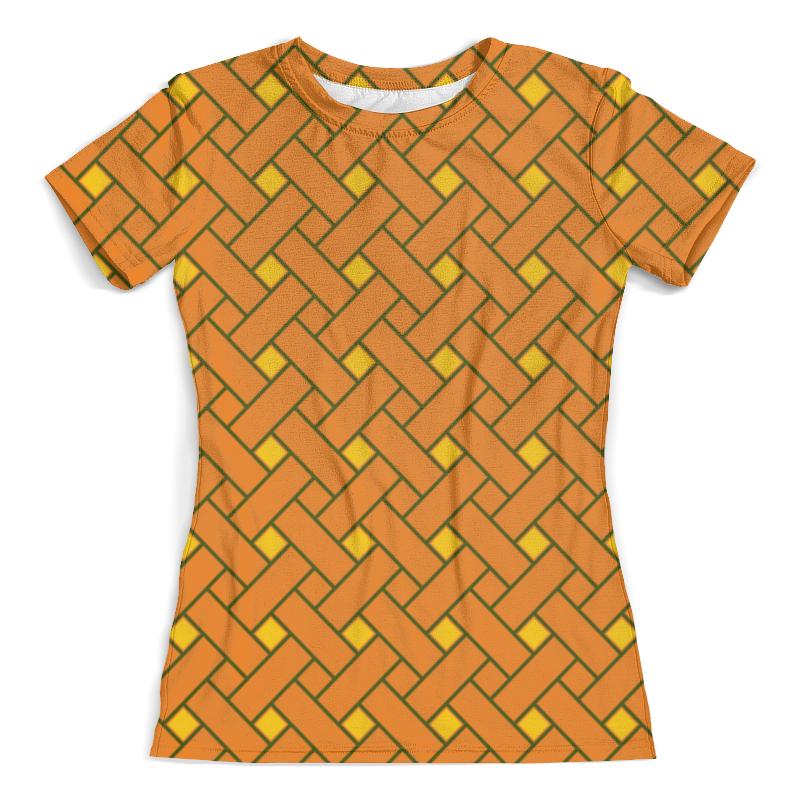 Футболка с полной запечаткой (женская) Printio Оранжевые линии футболка с полной запечаткой женская printio линии