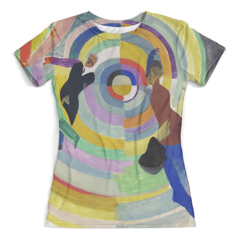 Футболка с полной запечаткой (женская) Printio Политическая драма (робер делоне) футболка с полной запечаткой мужская printio обнажённая с книгой робер делоне