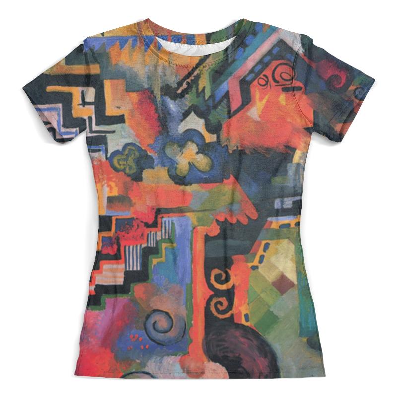 Футболка с полной запечаткой (женская) Printio Цветовая композиция (август маке) платье без рукавов printio парусник в тегернзее август маке