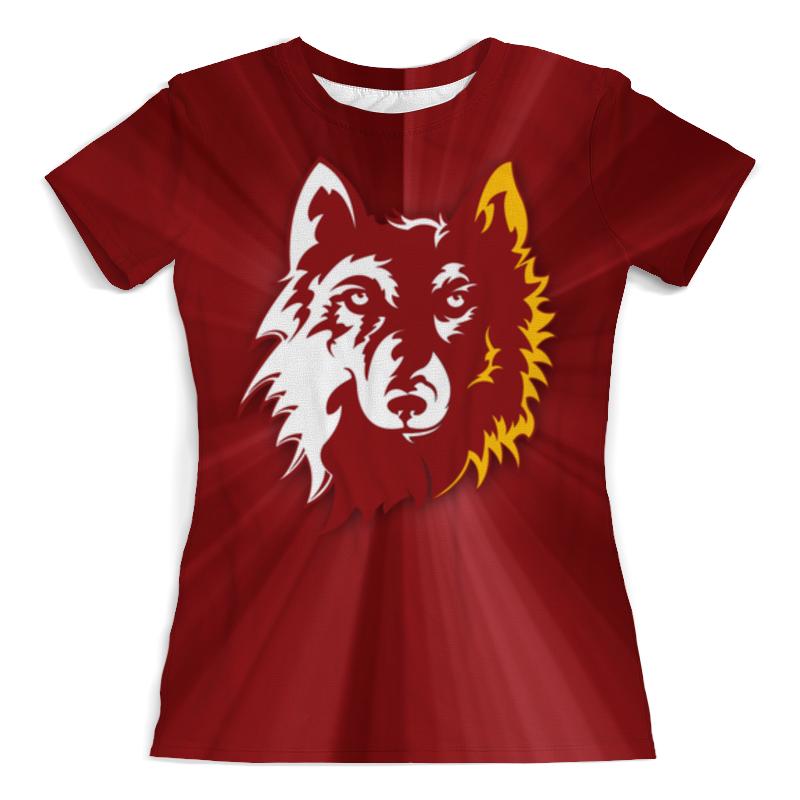 Футболка с полной запечаткой (женская) Printio Волк арт (1) футболка с полной запечаткой мужская printio волк арт 1