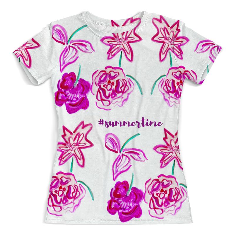 Футболка с полной запечаткой (женская) Printio Пионы футболка с полной запечаткой для девочек printio пионы