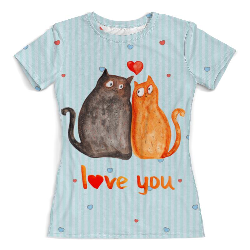 Printio Влюбленные коты. парные футболки. printio влюбленные птички парные футболки