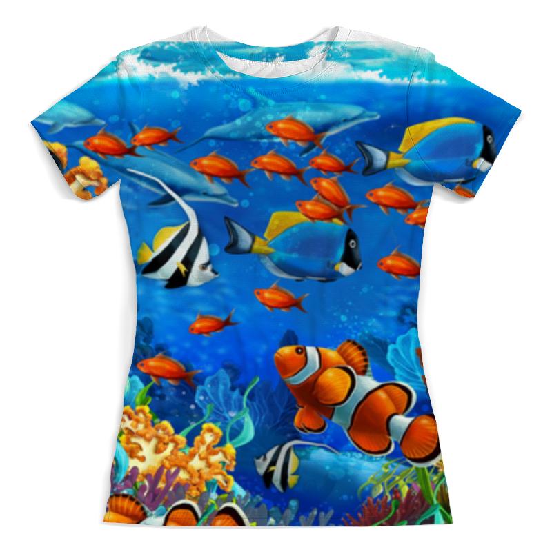Printio Кораловые рыбки футболка с полной запечаткой женская printio кораловые рыбки