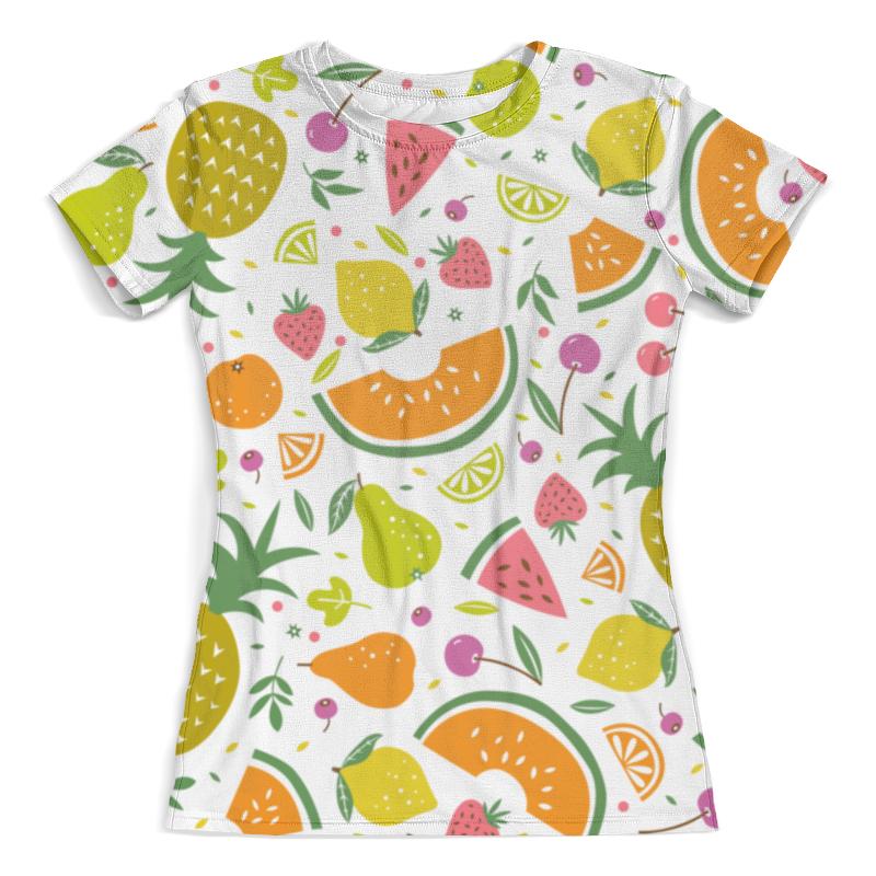 Футболка с полной запечаткой (женская) Printio Стилизованные фрукты и ягоды футболка print bar фрукты и ягоды