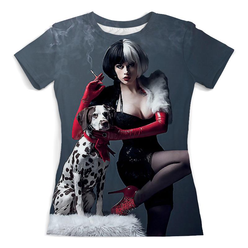 Футболка с полной запечаткой (женская) Printio Дама с собачкой футболка с полной запечаткой женская printio миньон
