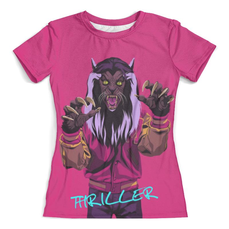 Футболка с полной запечаткой (женская) Printio Thriller - michael jackson (двусторонняя) футболка с полной запечаткой женская printio halloween thriller