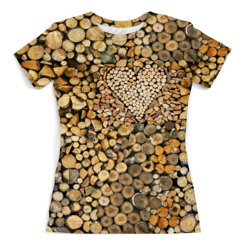 Printio Дрова сердечные футболка с полной запечаткой мужская printio дрова