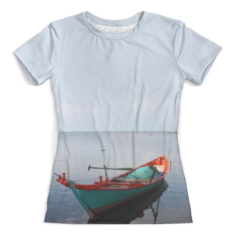 Футболка с полной запечаткой (женская) Printio Рыбацкая лодка футболка поло женская фото