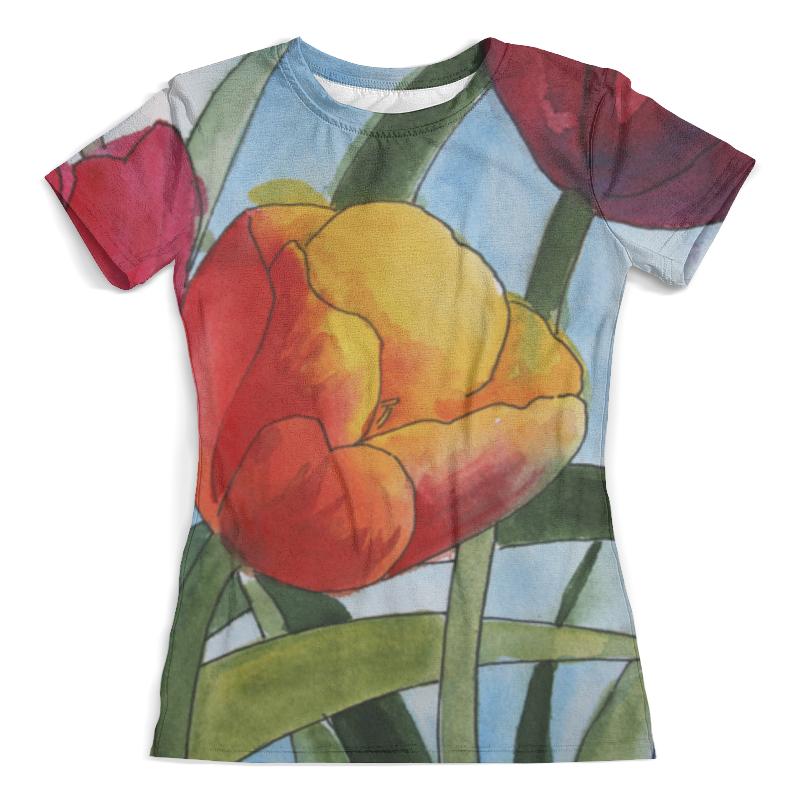 Футболка с полной запечаткой (женская) Printio Весенние тюльпаны. футболка print bar красные тюльпаны