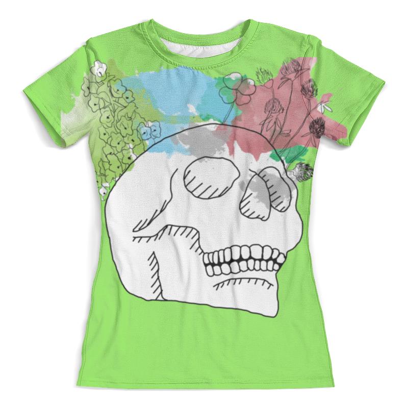 Футболка с полной запечаткой (женская) Printio Череп акварель футболка с полной запечаткой женская printio акварель