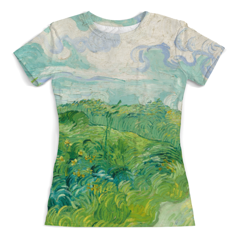 Футболка с полной запечаткой (женская) Printio Зеленые поля пшеницы (винсент ван гог) рюкзак мешок с полной запечаткой printio персиковое дерево в цвету ван гог