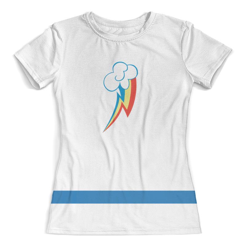 Футболка с полной запечаткой (женская) Printio Rainbow dash футболка с полной запечаткой женская printio broken rainbow