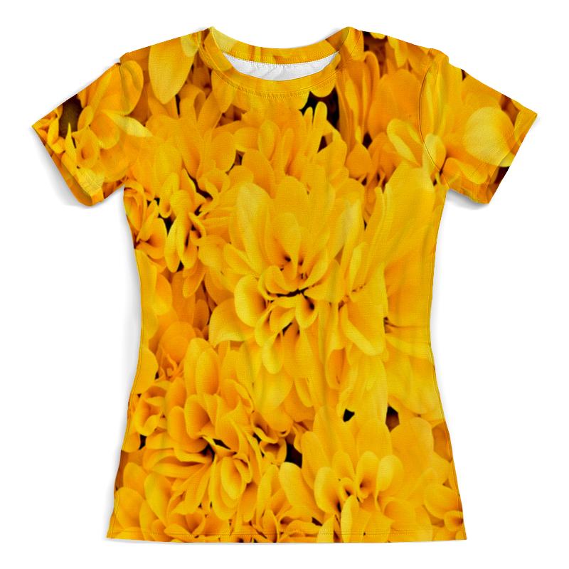 Футболка с полной запечаткой (женская) Printio Желтые цветы рюкзак с полной запечаткой printio желтые цветы