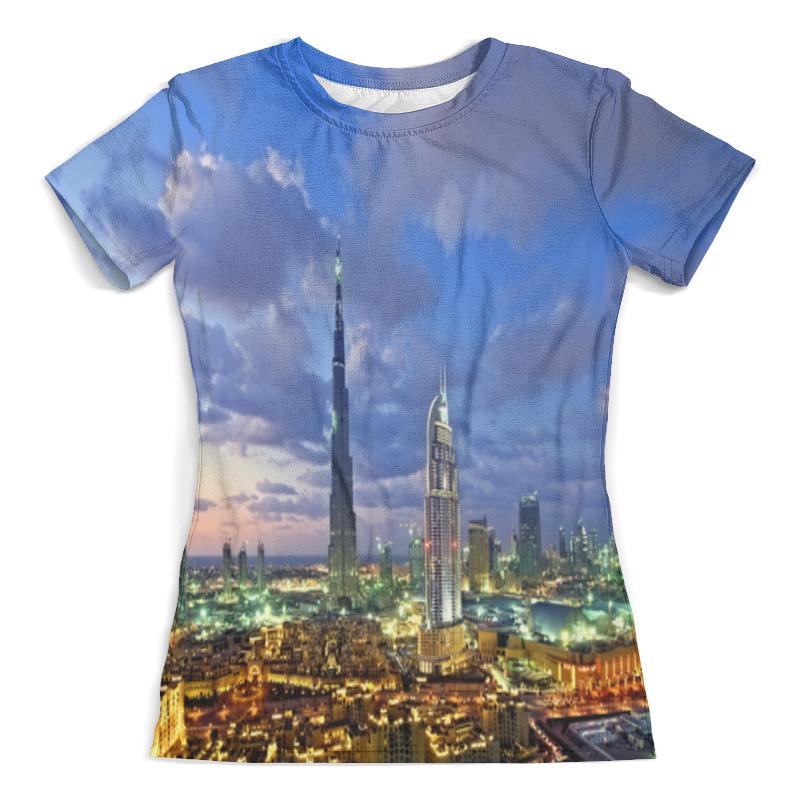 Футболка с полной запечаткой (женская) Printio Big city женская рубашка european and american big c002617 2015