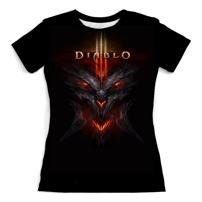 Футболка с полной запечаткой (женская) Printio Diablo / диабло футболка с полной запечаткой для девочек printio diablo диабло