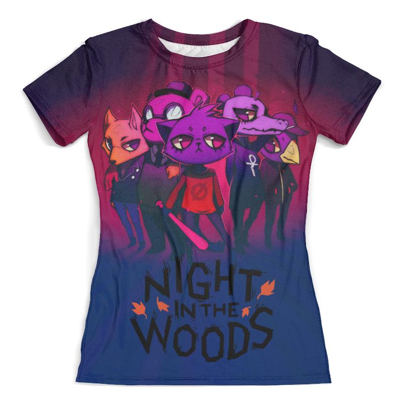 Футболка с полной запечаткой (женская) Printio Night in the woods