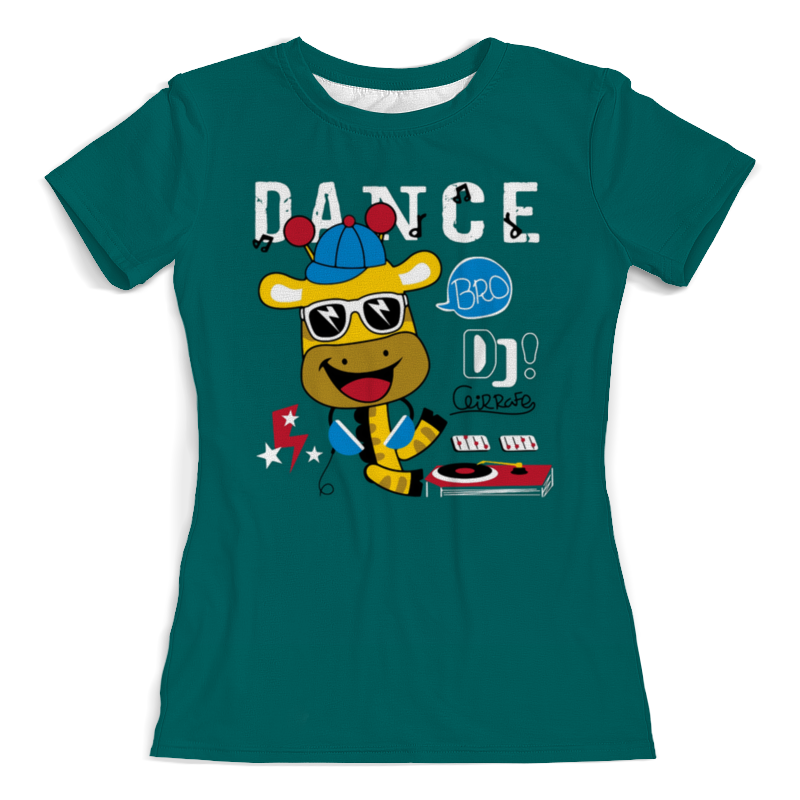 Футболка с полной запечаткой (женская) Printio Dance видеоигра для ps4 just dance 2018