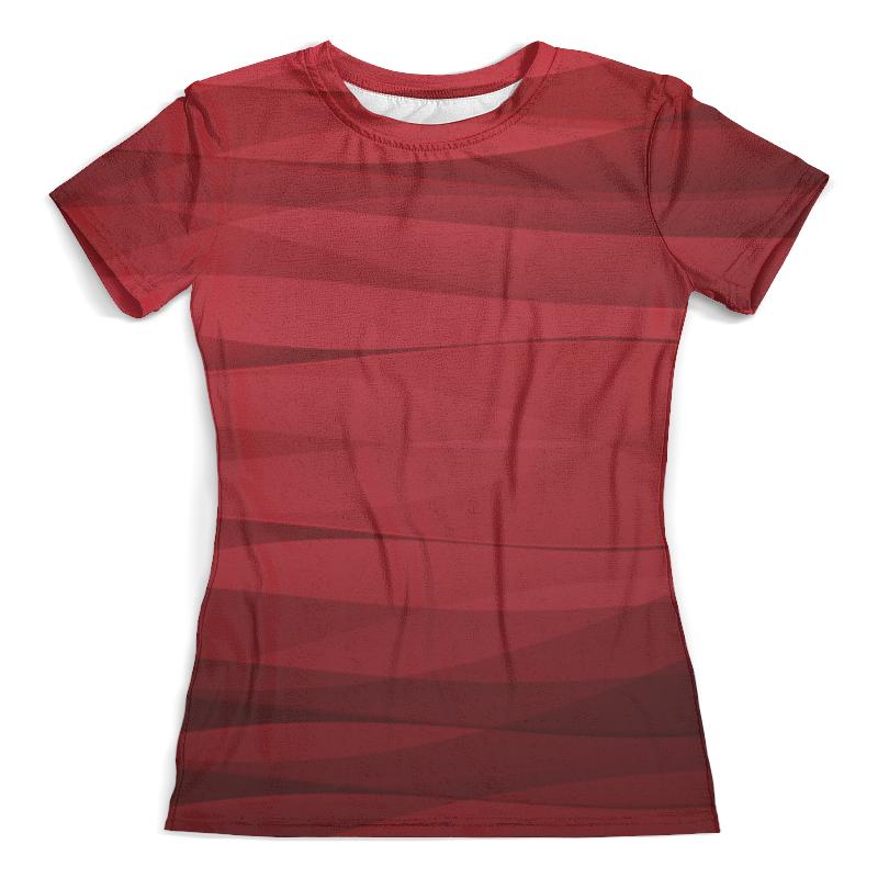 Футболка с полной запечаткой (женская) Printio Красная абстракция футболка с полной запечаткой мужская printio красная абстракция с ножницами