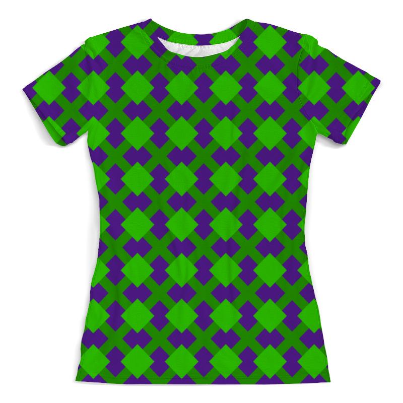 Футболка с полной запечаткой (женская) Printio Зеленая графика