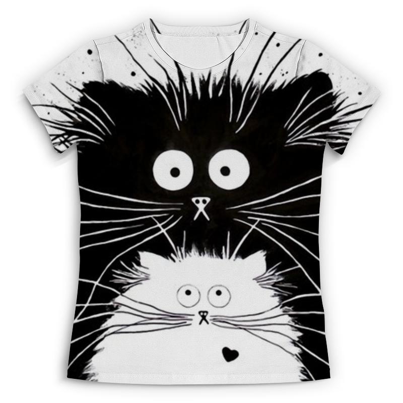 Футболка с полной запечаткой (женская) Printio Кот и кошка футболка с полной запечаткой женская printio i m bad and i know it starwars