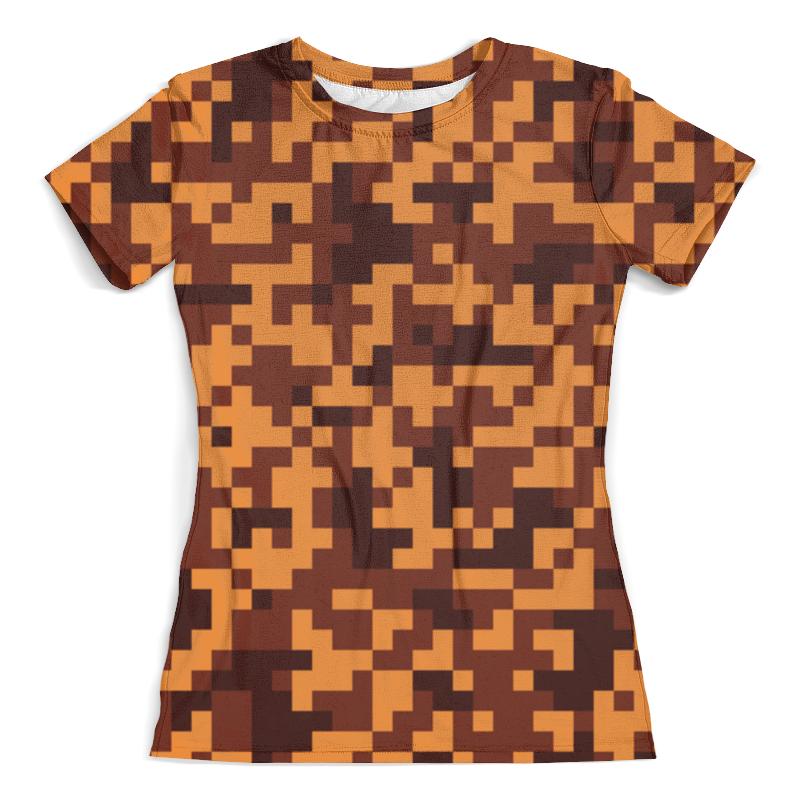 Футболка с полной запечаткой (женская) Printio Border pixel юбка женская roxy cosmia border placeme