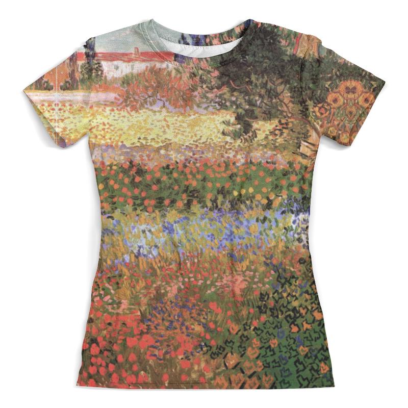 Футболка с полной запечаткой (женская) Printio Цветущий сад (винсент ван гог) футболка с полной запечаткой для мальчиков printio ван гог