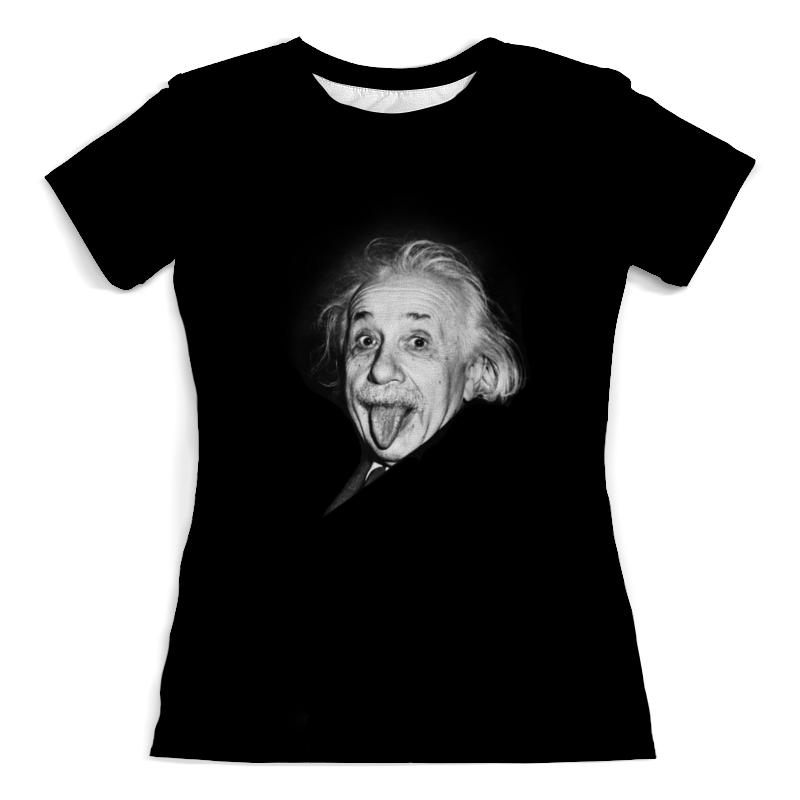 Футболка с полной запечаткой (женская) Printio Einstein who was albert einstein
