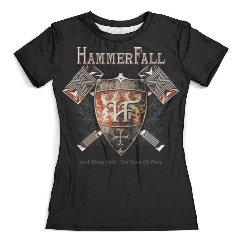 Футболка с полной запечаткой (женская) Printio Hammerfall hammerfall hammerfall r evolution