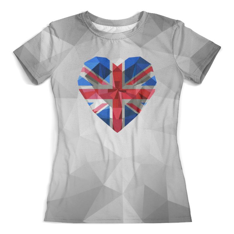 Футболка с полной запечаткой (женская) Printio Флаг британии миланна винтхальтер избритании с