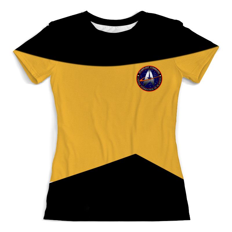 Футболка с полной запечаткой (женская) Printio Star trek футболка с полной запечаткой для девочек printio star trek