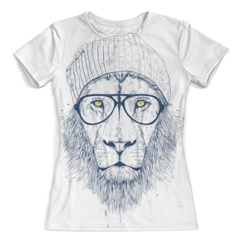 Футболка с полной запечаткой (женская) Printio Hipster lion 3d женская футболка 3d 2015 t harajuku 3d print