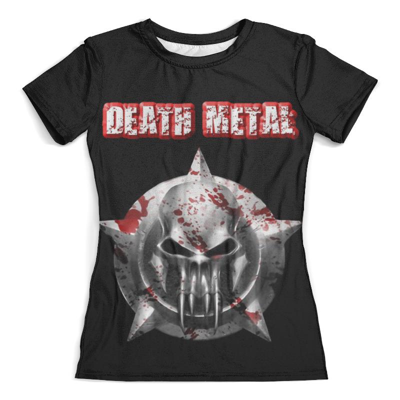 Футболка с полной запечаткой (женская) Printio Death metal футболка с полной запечаткой женская printio death skull halloween
