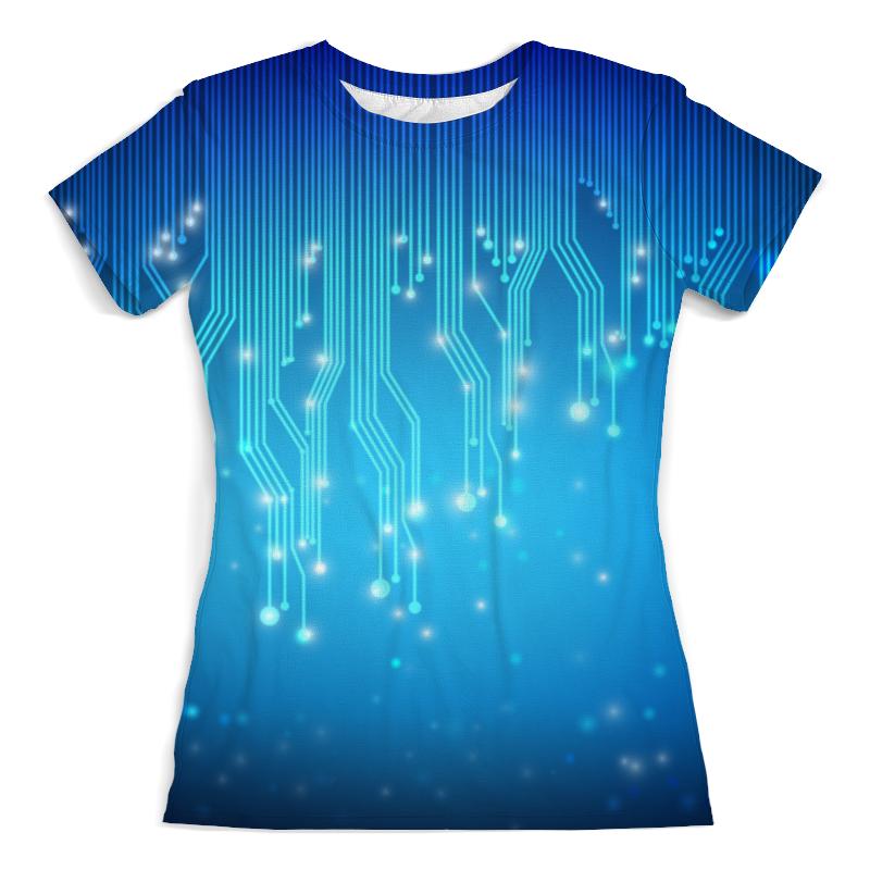 Футболка с полной запечаткой (женская) Printio Tehnology футболка с полной запечаткой для мальчиков printio tehnology