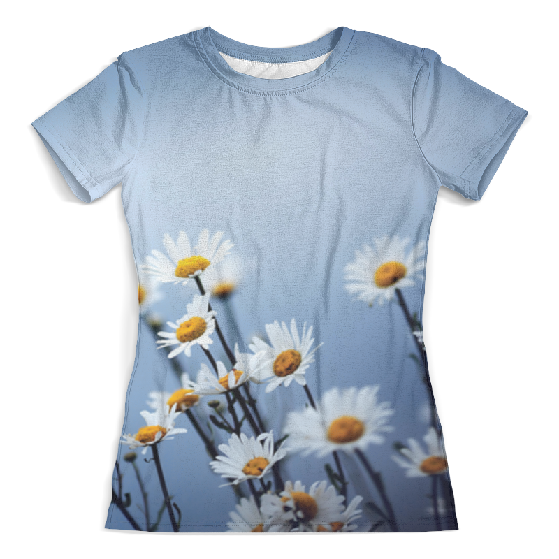 Футболка с полной запечаткой (женская) Printio Ромашки футболка с полной запечаткой женская printio battlefield v