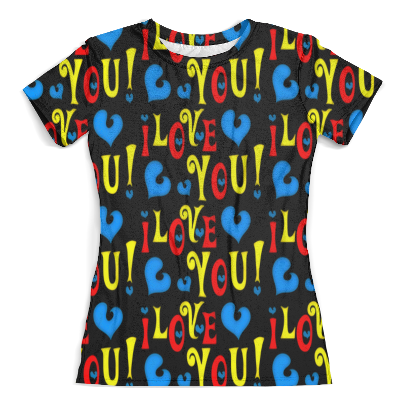 Футболка с полной запечаткой (женская) Printio I love you футболка с полной запечаткой женская printio army of love