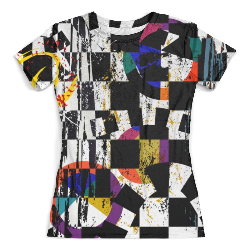 Футболка с полной запечаткой (женская) Printio Abstract geometric design delicate noctilucence hollow out geometric shape pendant necklace