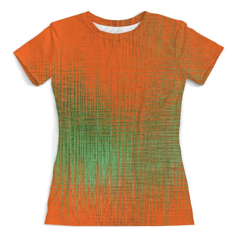 цены Футболка с полной запечаткой (женская) Printio Оранжевые линии
