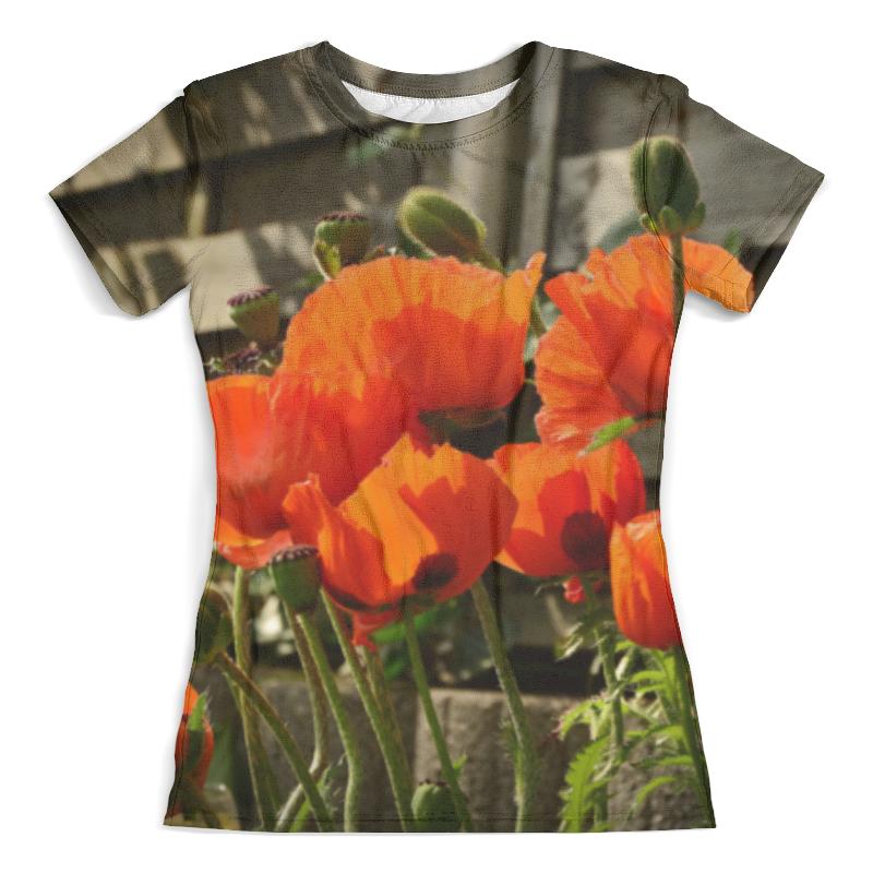 Футболка с полной запечаткой (женская) Printio Цветы маки для растений семейства бобовых характерно